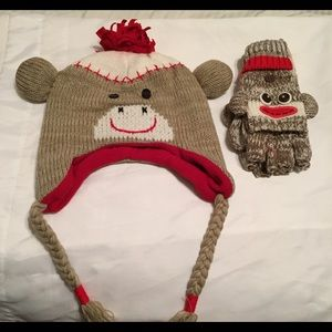 Sock Monkey 🐵 Hat and Gloves